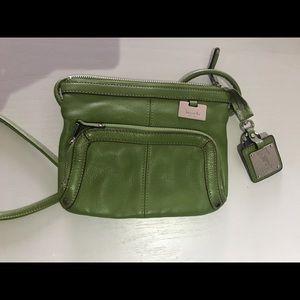 Tignanello saddle bag in green